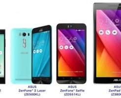 「ZenFone Selfie」「arrows M02」「ZenPad 8.0」