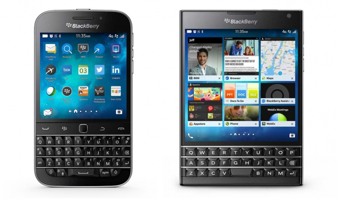 「BlackBerry Classic」「BlackBerry Passport」