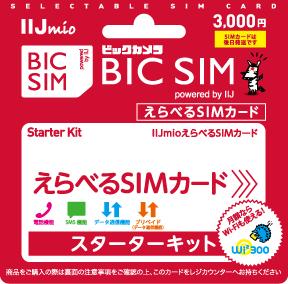 BIC SIM えらべるSIMカード powered by IIJ